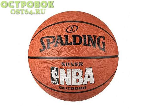 Мяч б.б. Spalding NBA Silver indoor/outdoor